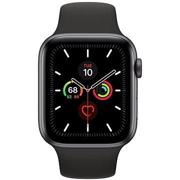 Apple Watch Series 5 44mm Vesmírně šedý hliník s černým sportovním řemínkem (MWVF2HC/A)