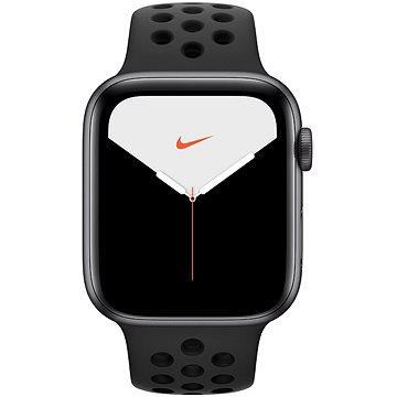 Apple Watch Nike Series 5 44mm Vesmírně šedý hliník s antracitovým/černým sportovním řemínkem Nike (MX3W2HC/A)