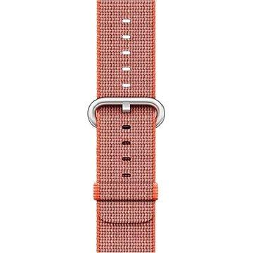 Řemínek Apple 38mm Vesmírně oranžový/ antracitově šedý z tkaného nylonu (MNK52ZM/A)