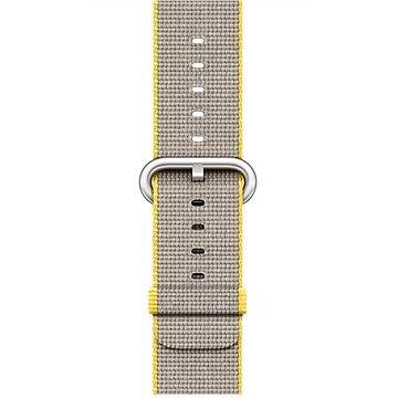 Řemínek Apple 38mm Žlutý/ světle šedý z tkaného nylonu (MNK72ZM/A)