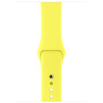 Řemínek Apple Sport 42mm Zářivě žlutý (MQUV2ZM/A)