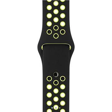 Řemínek Apple Sport Nike 42mm Černý/Volt (MQ2Q2ZM/A)