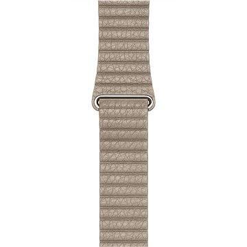 Řemínek Apple 42mm Kamenně šedý kožený - Medium (MJ4X2ZM/A)