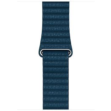 Apple 42mm Vesmírně modrý kožený - Medium (MQV52ZM/A)