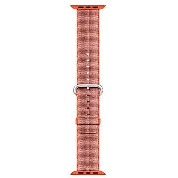 Řemínek Apple 42mm Vesmírně oranžový/ antracitově šedý z tkaného nylonu (MNKF2ZM/A)