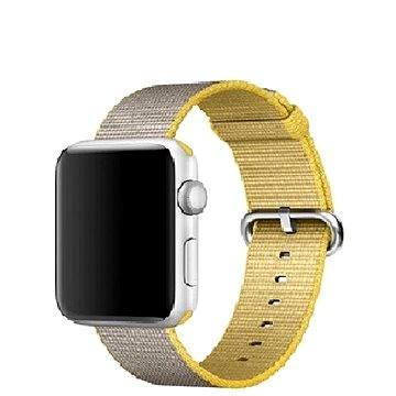 Řemínek Apple 42mm Žlutý/ světle šedý z tkaného nylonu (MNKJ2ZM/A)