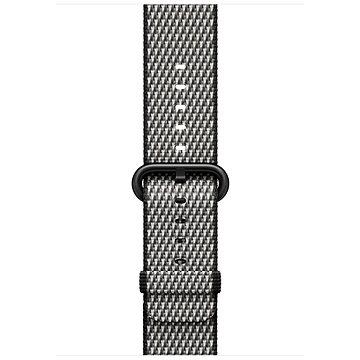 Řemínek Apple 42mm Černý z tkaného nylonu (prošívání) (MQVK2ZM/A)