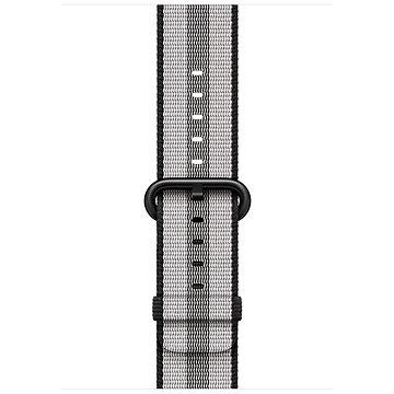 Řemínek Apple 42mm Černý z tkaného nylonu (proužky) (MQVR2ZM/A)