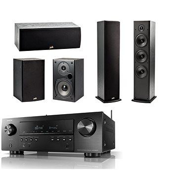 DENON AVR-S650H Black + reprosoustava Polk Audio T15 + T30 + T50