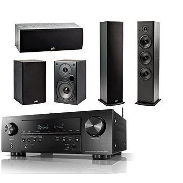 DENON AVR-S750H Black + reprosoustava Polk Audio T15 + T30 + T50