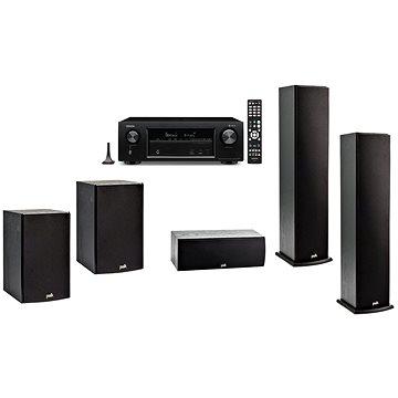 DENON AVR-X1400H + 5.0 reprosoustava Polk Audio T50 + T30 + T15