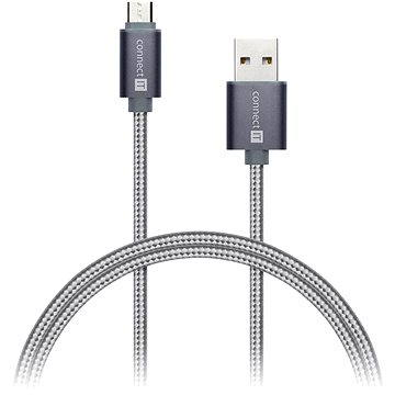 CONNECT IT Wirez Premium Metallic micro USB 1m silver grey (CI-965)