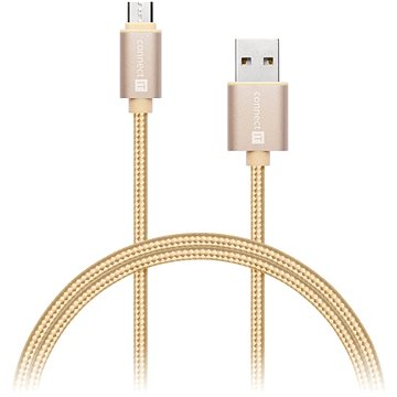 CONNECT IT Wirez Premium Metallic micro USB 1m gold (CI-966)