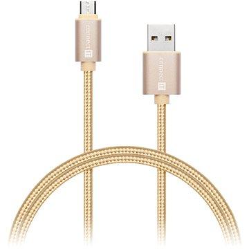 CONNECT IT Wirez Premium Metallic micro USB 1m gold (CI-966)
