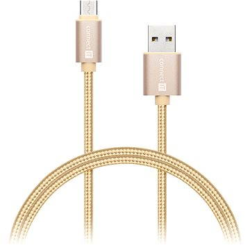 CONNECT IT Wirez Premium Metallic USB-C 1m gold (CI-666)