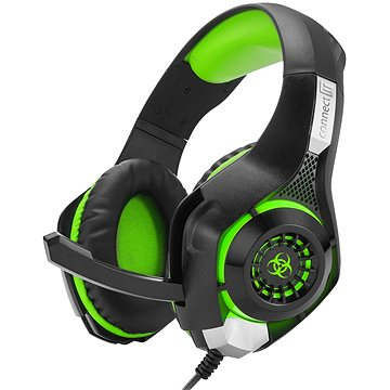 CONNECT IT CHP-4510-GR Gaming Headset BIOHAZARD zelená (CHP-4510-GR)