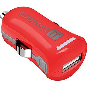 CONNECT IT InCarz Charger ONE 2.1A červená (V2) (CI-1121)