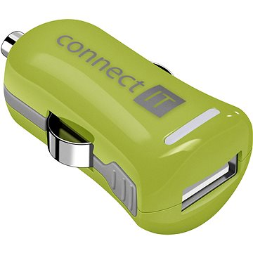 CONNECT IT InCarz Charger ONE 2.1A zelená (V2) (CI-1122)