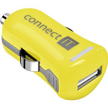 CONNECT IT InCarz Charger ONE 2.1A žlutá (V2) (CI-1126)