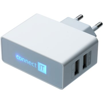 CONNECT IT CI-151 Dual Charger 230V bílá