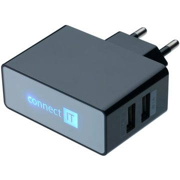 CONNECT IT CI-153 Dual Charger 230V černá (CI-153)
