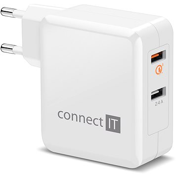 CONNECT IT InWallz QUALCOMM QUICK CHARGE 3.0 bílá (CWC-3010-WH)