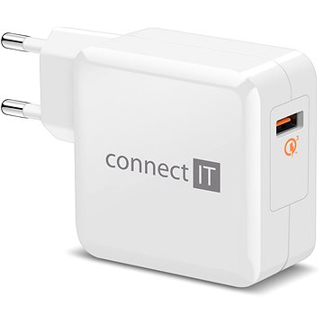 CONNECT IT InWallz QUALCOMM QUICK CHARGE 3.0 bílá (CWC-2010-WH)