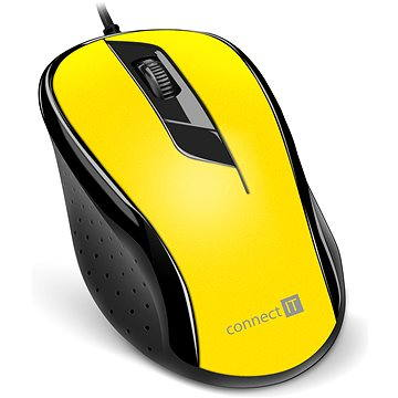 CONNECT IT Optical USB mouse žlutá (CMO-1200-YL)