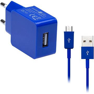 CONNECT IT COLORZ micro USB Charging Combo modrý (CI-597_CI-573)