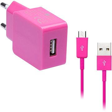 CONNECT IT COLORZ micro USB Charging Combo růžový (CI-598_CI-574)