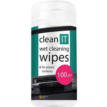 CLEAN IT Čistící ubrousky mokré na plasty 100ks (CL-29)