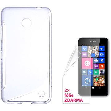 CONNECT IT S-Cover Nokia Lumia 635 čiré (CI-933)