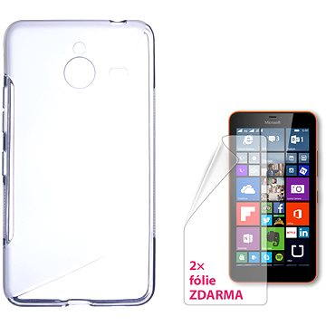 CONNECT IT S-Cover Microsoft Lumia 640 XL/640 XL LTE/640 XL Dual SIM čiré (CI-777)