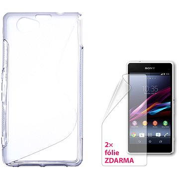 CONNECT IT S-Cover Sony Xperia Z1 Compact čiré (CI-725)