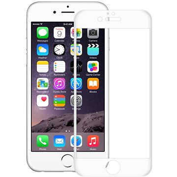 CONNECT IT Glass Shield 3D FULL COVER pro iPhone 6, bílé (CI-1364)