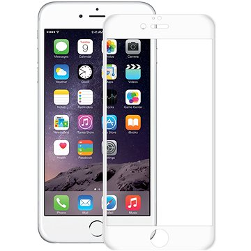 CONNECT IT Glass Shield 3D FULL COVER pro iPhone 6 Plus/6s Plus, bílé (CI-1374)