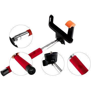 Gogen BT Selfie 2 teleskopický červený (GOGBTSELFIE2R)