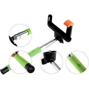 Gogen BT Selfie 2 teleskopický zelený (GOGBTSELFIE2G)