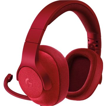 Logitech G433 Surround Sound Gaming Headset červený (981-000652)