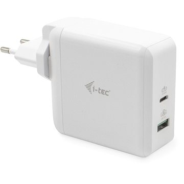 i-tec USB-C Travel Charger 60W + USB-A Port 18W (CHARGER-C60WT)