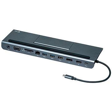 I-TEC USB-C Metal Low Profile 4K Tripple Display Docking Station + Power Delivery 85W (C31FLATDOCKPDPLUS)