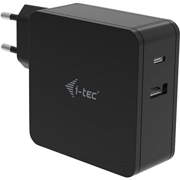 I-TEC USB-C Charger 60W + USB-A Port 12W (CHARGER-C60WPLUS)