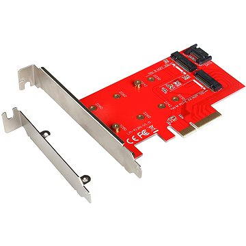 I-TEC PCI-E 2x M.2 Card (PCI-E/SATA) (PCE2M2)