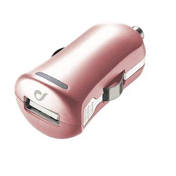 Cellularline Unique Design car charger pro iPhone růžovozlatá (LACBRUSB2AP)