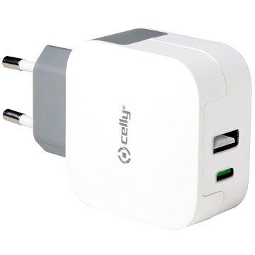 CELLY s konektorem USB a USB-C bílá (TCTYPECUSBWH)
