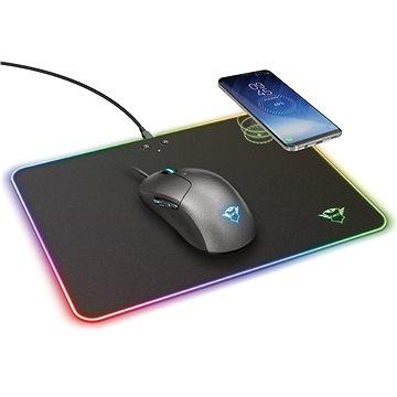 Trust GXT 750 Qlide RGB podložka pod myš s bezdrátovým nabíjením (23184)