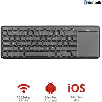 Trust Mida Wireless Bluetooth Keyboard with XL touchpad (22573)