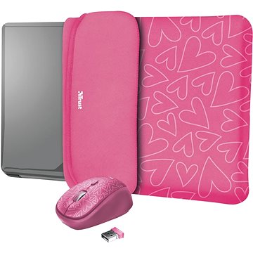 TRUST YVO MOUSE & SLEEVE F/15.6 – PINK (23443)