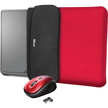 TRUST YVO MOUSE & SLEEVE F/15.6 – RED (23455)