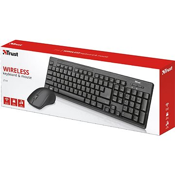 Trust Trust Ziva wireless keyboard and mouse CZ/SK (22122)